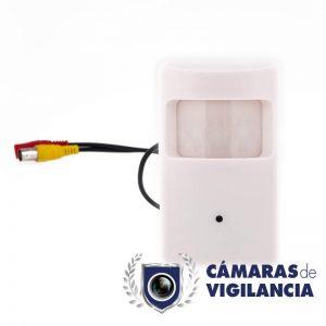 cámara oculta en detector de movimiento falso