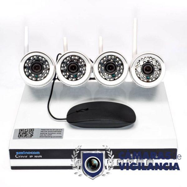 kit cctv 4 cámaras ip