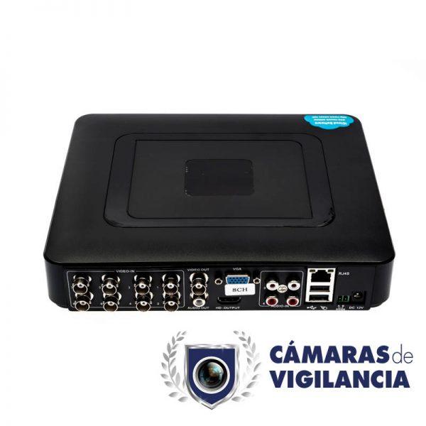 kit cctv grabador 4 entradas con cámara en detector de humo