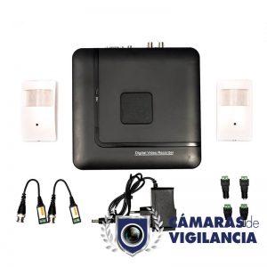kit cctv grabador 4 entradas con cámara en detector de robo