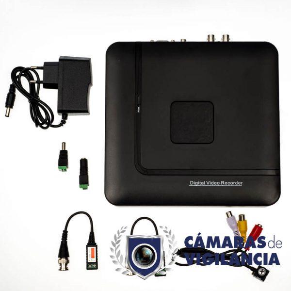 kit cctv grabador 4 entradas con cámara en tornillo